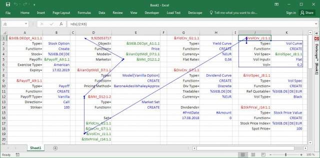 Deriscope spreadsheet formula for creating flat volatility curve