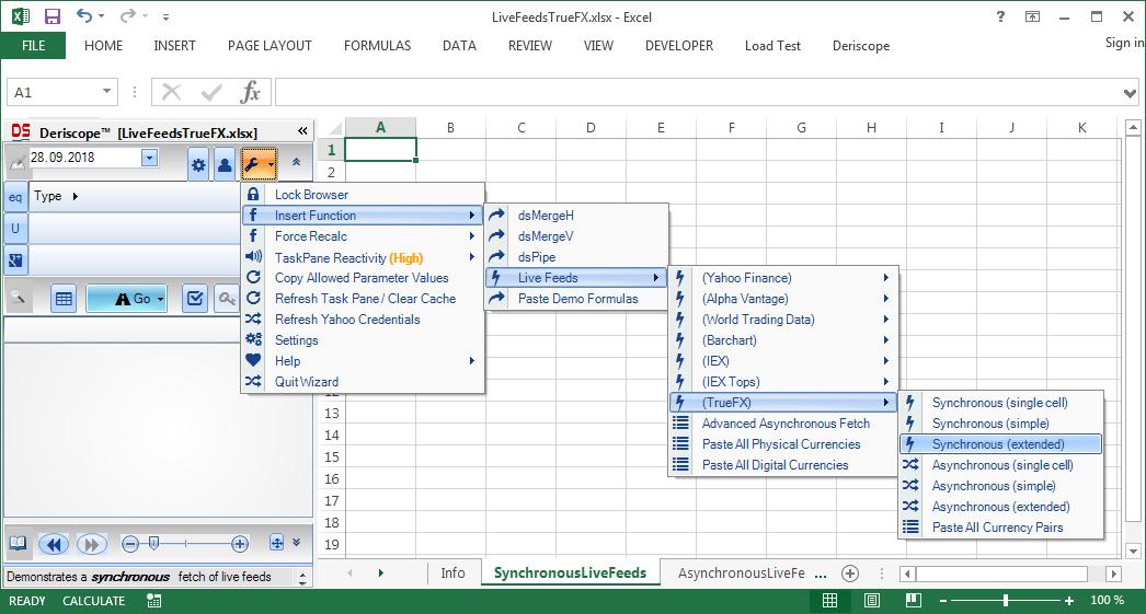 Market Data in Excel from TrueFX - Resources