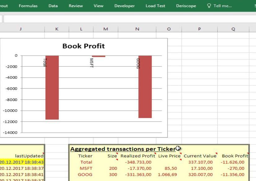 market data in excel from iex resources