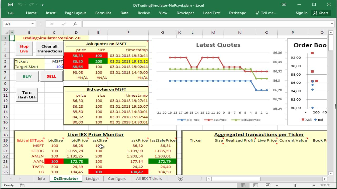 using a stock trading simulator in excel resources