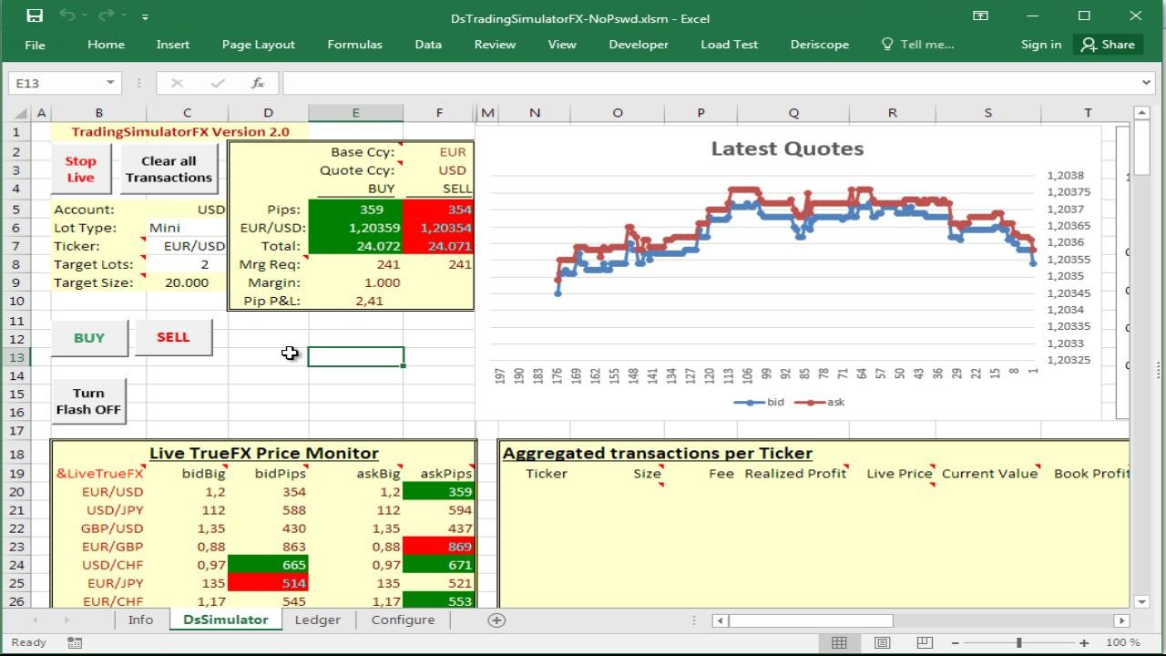 using a forex trading simulator in excel resources
