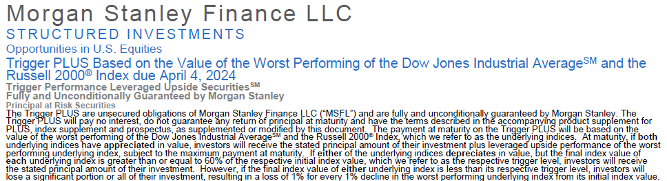 Pricing Structured Products in Excel: The Morgan Stanley